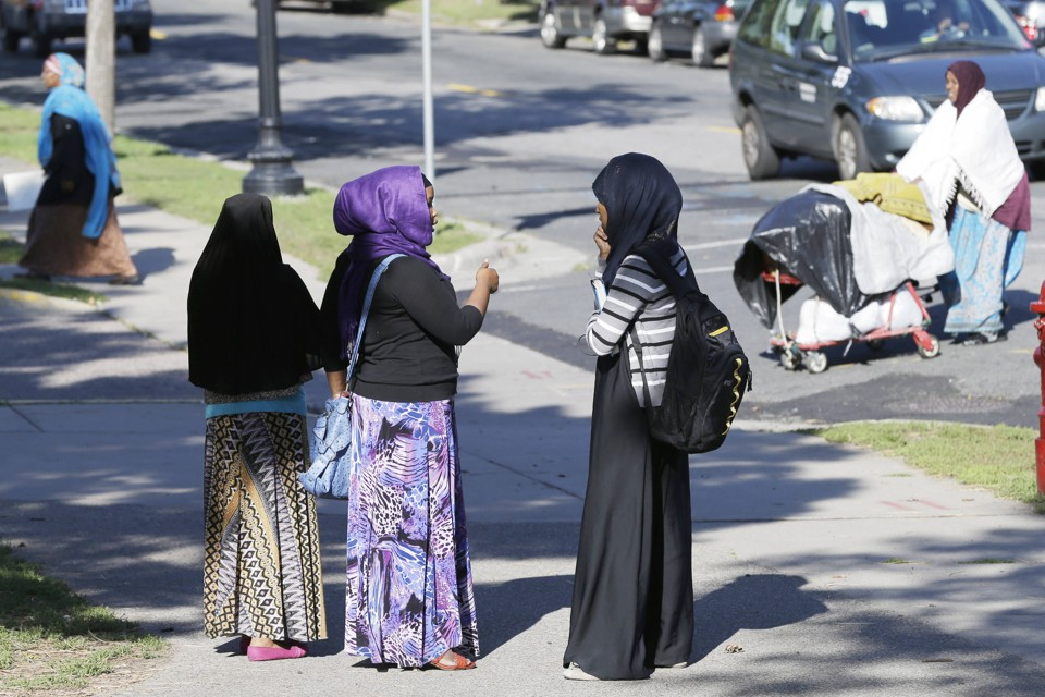 Somali women gather at a park in Minneapolis.