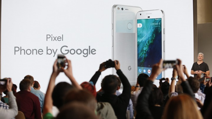 Rick Osterloh, Google's senior vice president for hardware, introduces the Pixel phone
