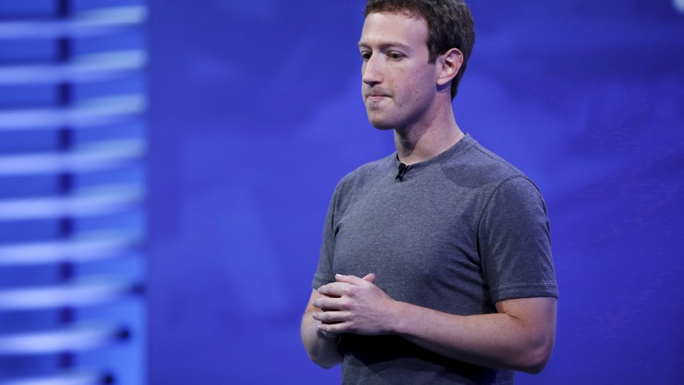Mark Zuckerberg speaks on stage during the Facebook F8 conference in San Francisco, in 2016.