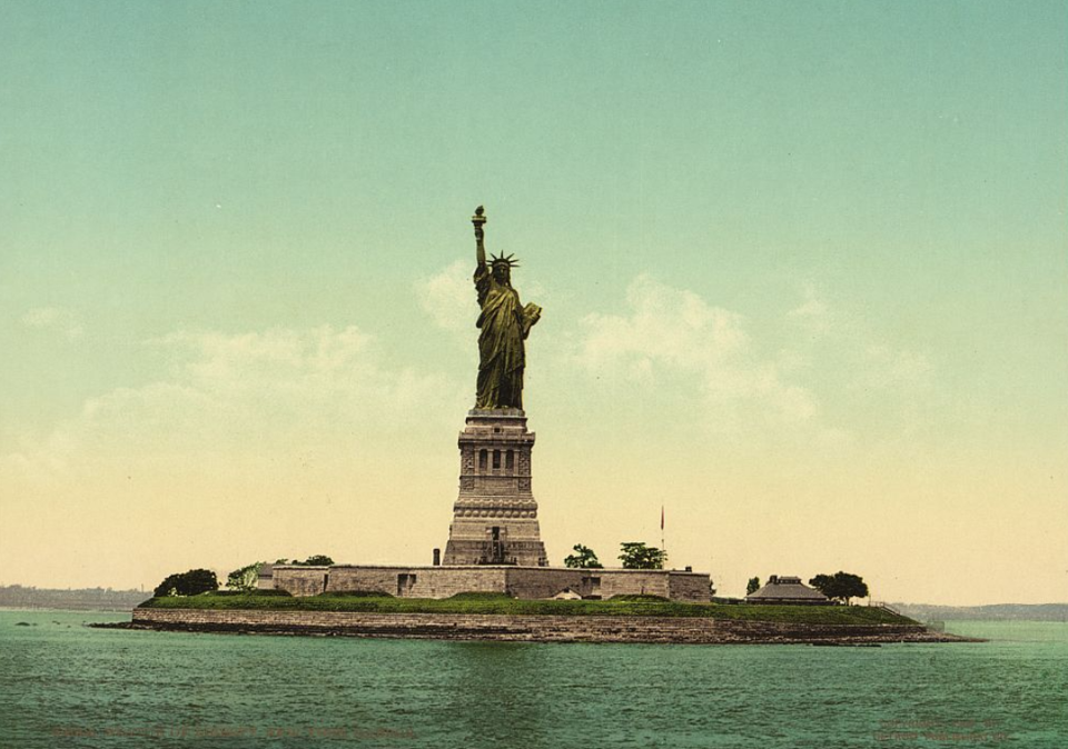 the statue of liberty s forgotten wrist watch the atlantic a photomechanical print of the statue of liberty produced in 1905