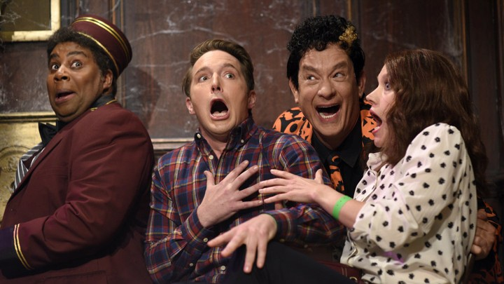 d8d23031 The Bizarre Joy of Tom Hanks as David Pumpkins on 'Saturday Night ...
