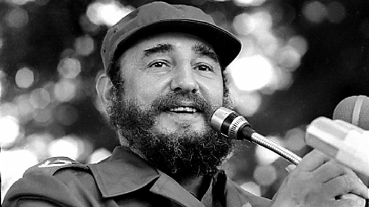 Fidel Castro speaks during a visit to Luanda, Angola in March 1984.