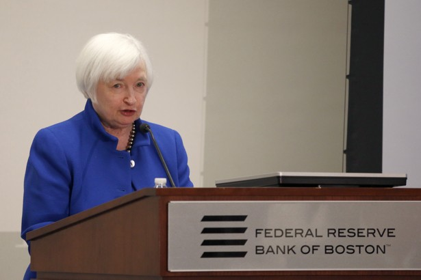 U.S. Federal Reserve Chairwoman Janet Yellen during her speechat the Federal Reserve Bank of Boston on October 14, 2016