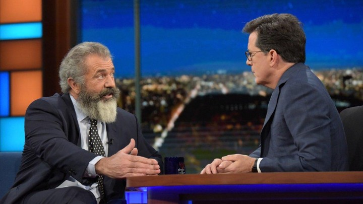 Mel gibson on colbert is strikingly lacking in apologies the cbs thecheapjerseys Images
