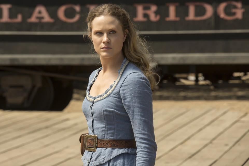 Evan Rachel Wood as Dolores in 'Westworld'