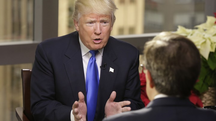 "President-elect Donald Trump speaks to Chris Wallace, host of ""Fox News Sunday"""