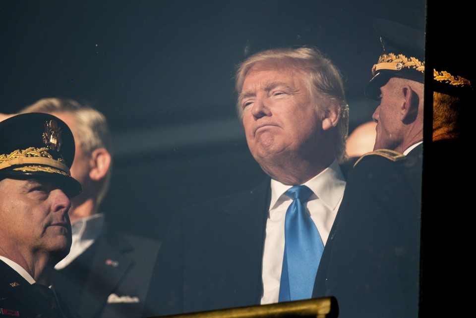 President-elect Trump watches the Army-Navy football game.