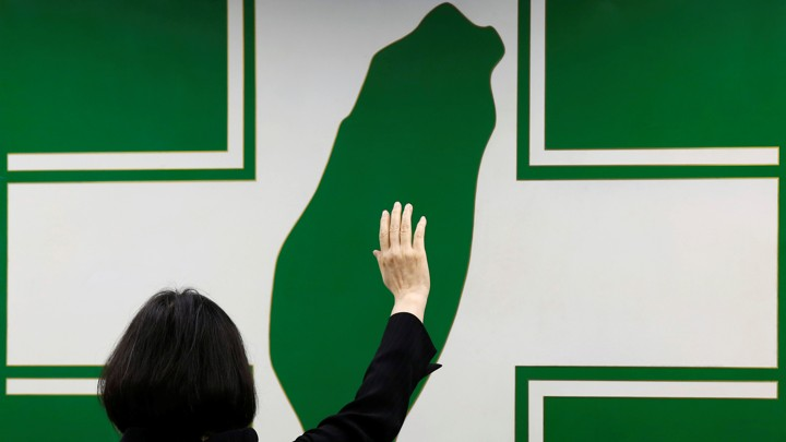 Taiwanese President Tsai Ing-wen swears in as Democratic Progressive Party's chairwoman in Taipei