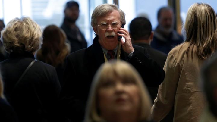 John Bolton at Trump Tower on December 2