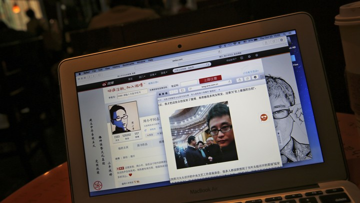 A post on the Weibo account of Zhou Xiaoping, a Chinese pro-government blogger