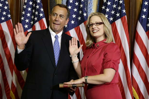 Arizona Representative Kyrsten Sinema is the only member of Congress who describes herself as religiously unaffiliated.Charles Dharapak / AP