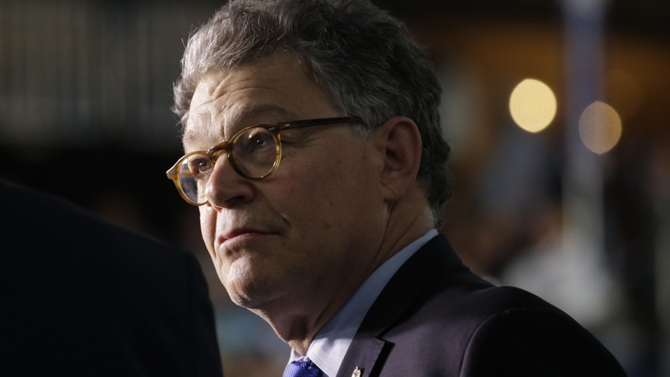 This image features Senator Al Franken, of Minnesota, who asked Betsy DeVos a question that is the focus of this story.