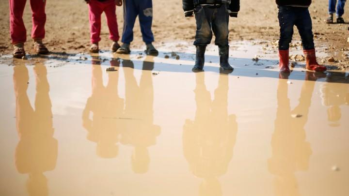 Syrian refugee children at Al Zaatari refugee camp in Jordan