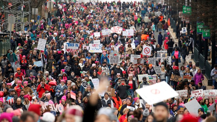 People take part in the Women's March in Washington