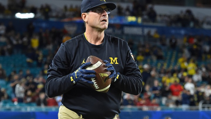 Jim Harbaugh, the football coach for the University of Michigan