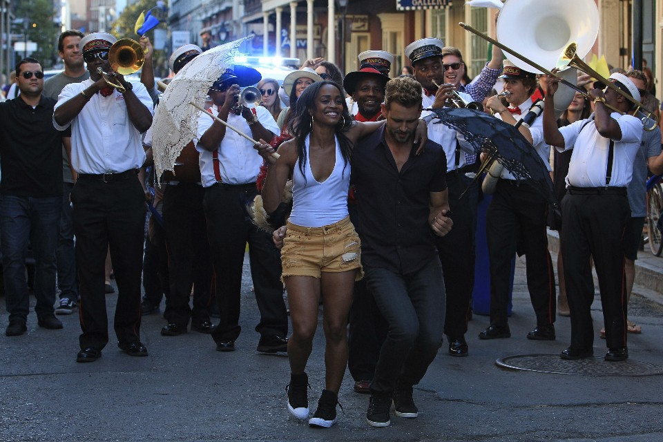 Rachel With Nick As The Two Second Line In New Orleans During A Bachelor Date ABC