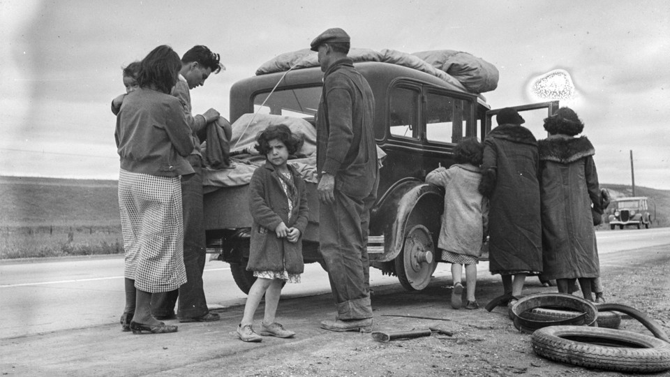 A family of Mexican migrants, on the road in California, 1936 Dorothea  Lange/Library of Congress