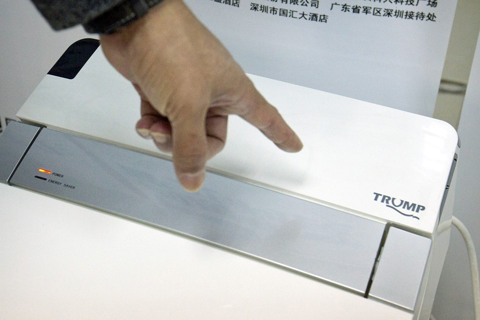 "Shenzhen Trump Industrial Co., the maker of the toilet seen here, is one of many companies that will no longer be allowed to use the name ""Trump"" in China."