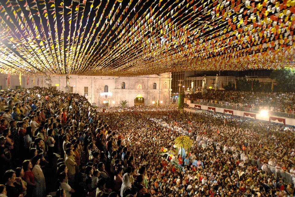 A mass at the Santo Niño Basilica in Cebu City.