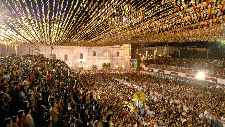 A mass at the Santo Niño Basilica in Cebu City.