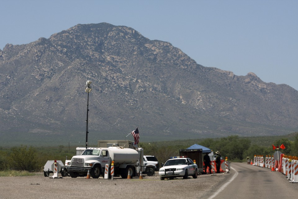 A Border Patrol checkpoint in Pima County, Arizona, in 2009