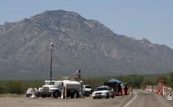 A Border Patrol checkpoint in Pima County, Arizona, in 2009