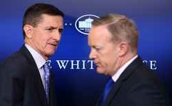 National Security Advisor Michael Flynn and White House Press Secretary Sean Spicer