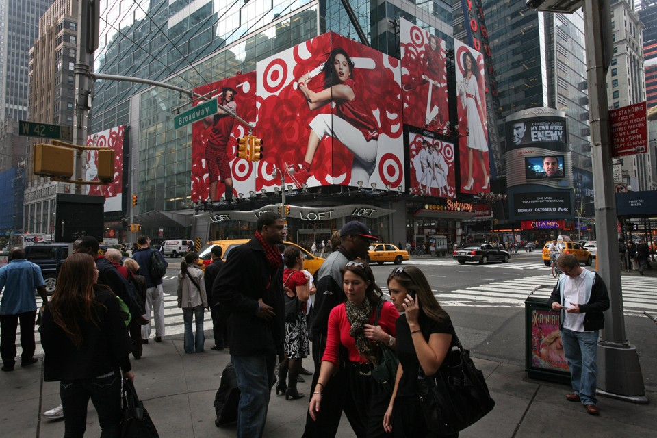 A Target ad in Times Square