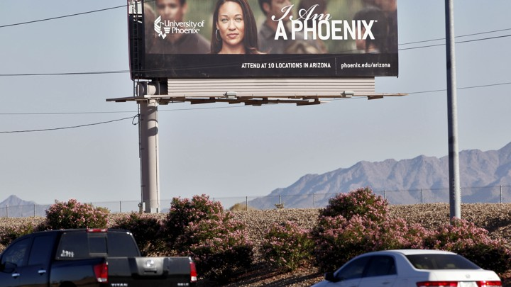 A University of Phoenix billboard in Arizona