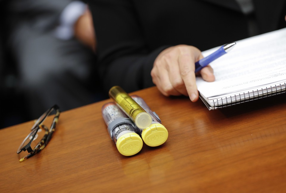 EpiPens on a table