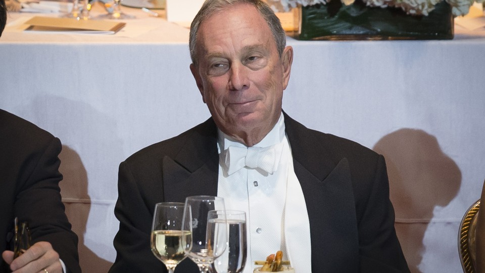 Michael Bloomberg at a charity gala in New York