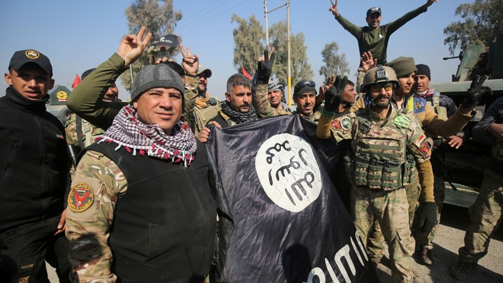 Iraqi forces enter Mosul airport for the first time since the Islamic State group overran the region in 2014.