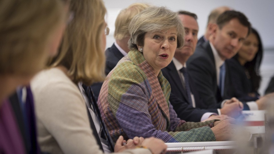 Prime Minister Theresa May holds a regional cabinet meeting.
