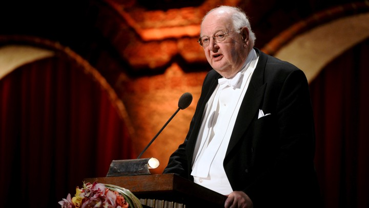 The Nobel laureate Angus Deaton speaks at Stockholm's City Hall in 2015.