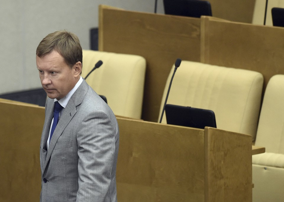 Russian lawmaker Denis Voronenkov attends a session at the State Duma, the lower house of parliament, in Moscow, Russia on September 15, 2015.