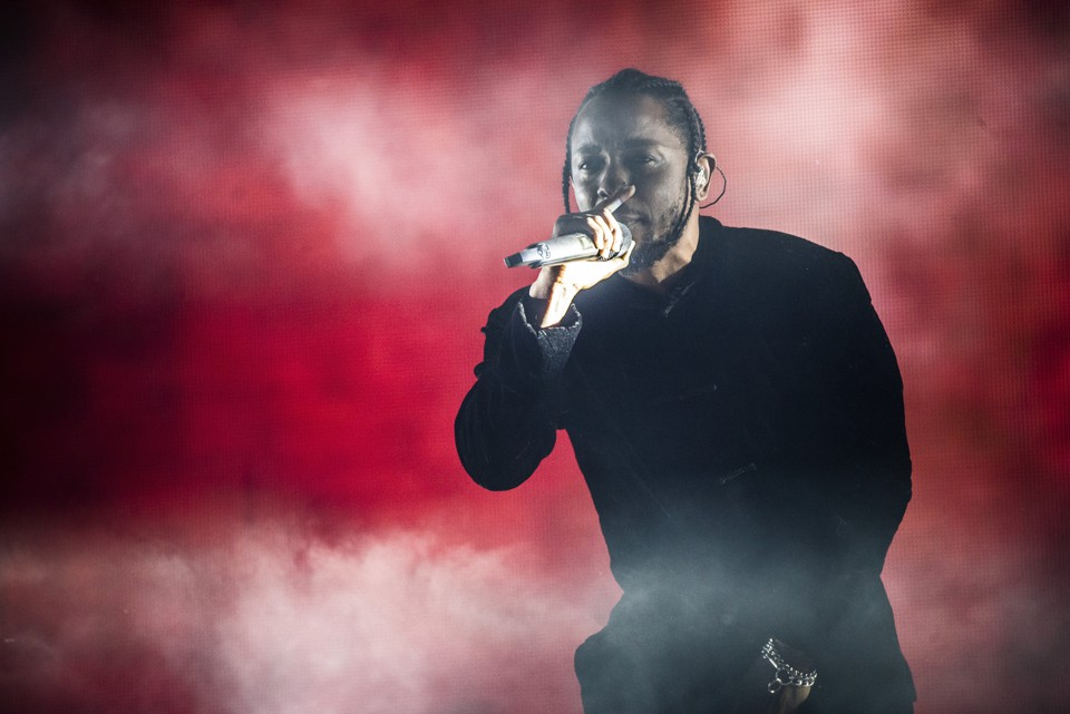 Kendrick Lamar at Coachella 2017