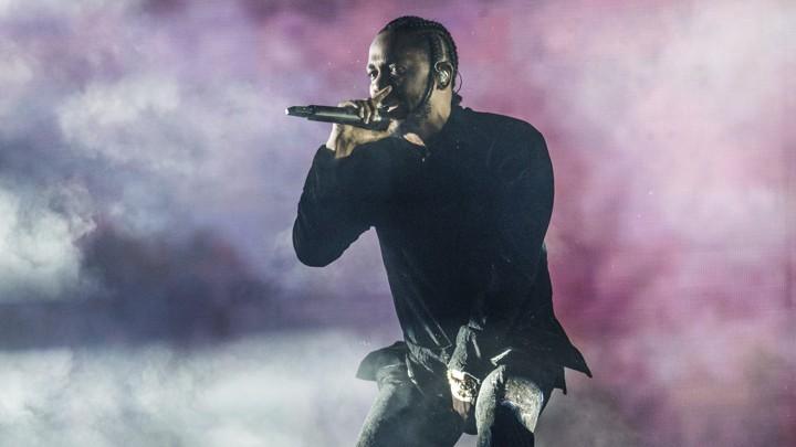 Kendrick Lamar performs at Coachella Music & Arts Festival in California.
