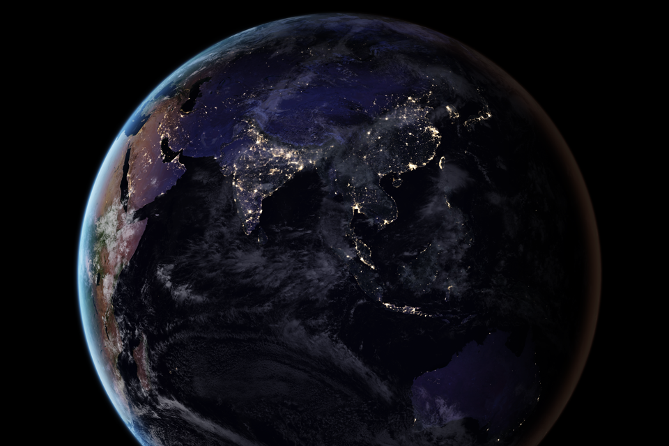 NASAs Nighttime Maps Trace Humanitys Impact On Earth The Atlantic - Recent satellite images of earth