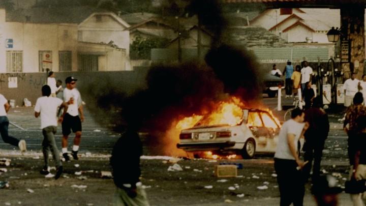 la riots media coverage