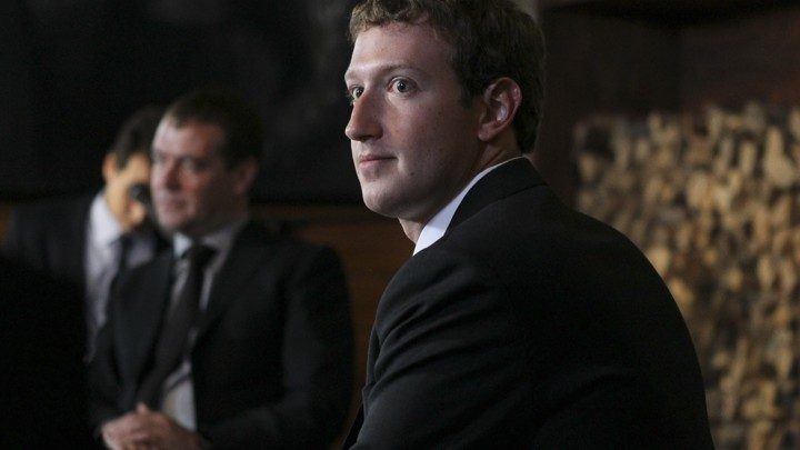 Facebook CEO Mark Zuckerberg looks around during a meeting with Russian Prime Minister Dmitry Medvedev near Moscow, in 2012.