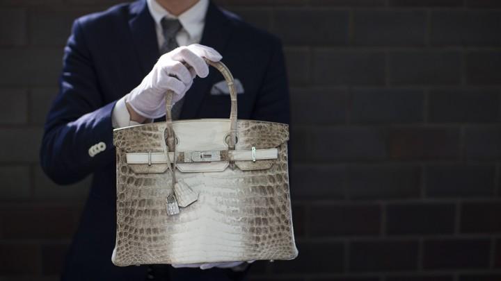 f763b8ba4 A diamond-encrusted Birkin bag at an auction house in CaliforniaMario  Anzuoni / Reuters