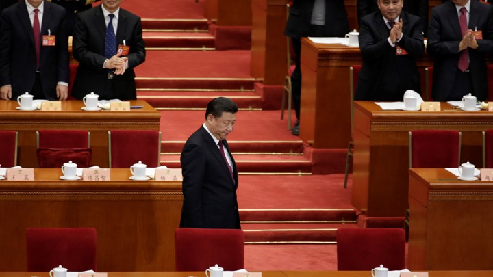 Chinese President Xi Jinping arrives for the opening session of the Chinese People's Political Consultative Conference (CPPCC) at the Great Hall of the People in Beijing, China, on March 3, 2017.