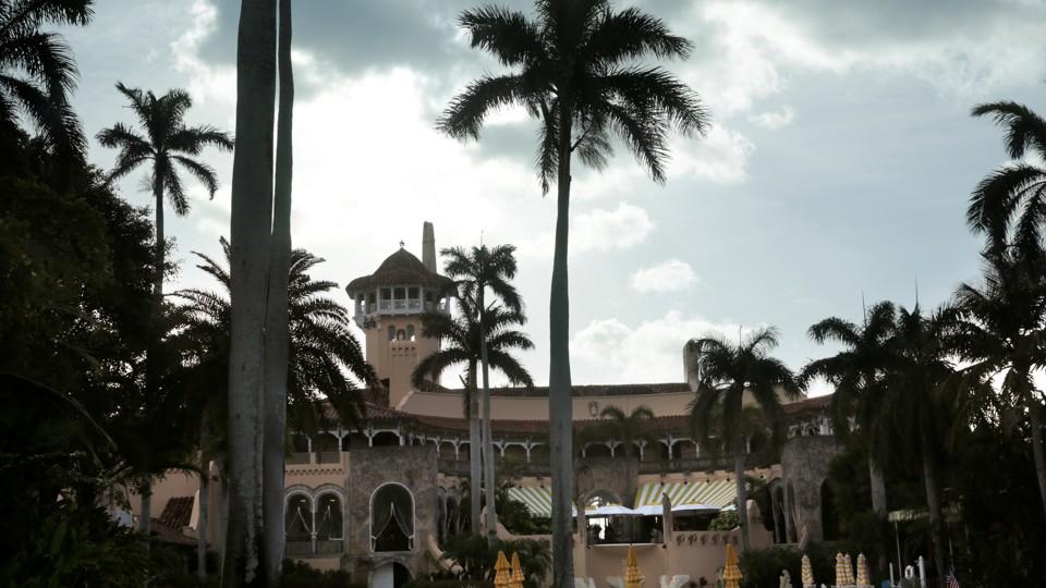 President Donald Trump's Mar-a-Lago estate in Palm Beach, Florida