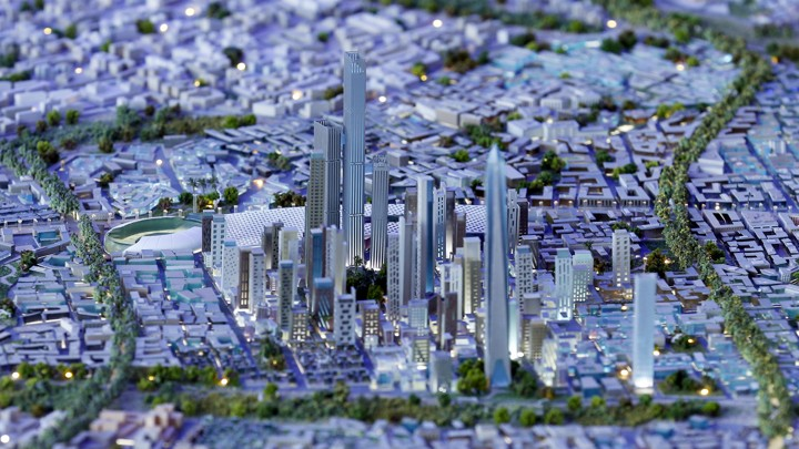 A model of a planned new capital for Egypt