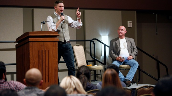 Richard Spencer speaks onstage