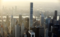 432 Park Avenue, an apartment building in Manhattan, towers over its neighbors. Most of its units are priced in the tens of millions of dollars.