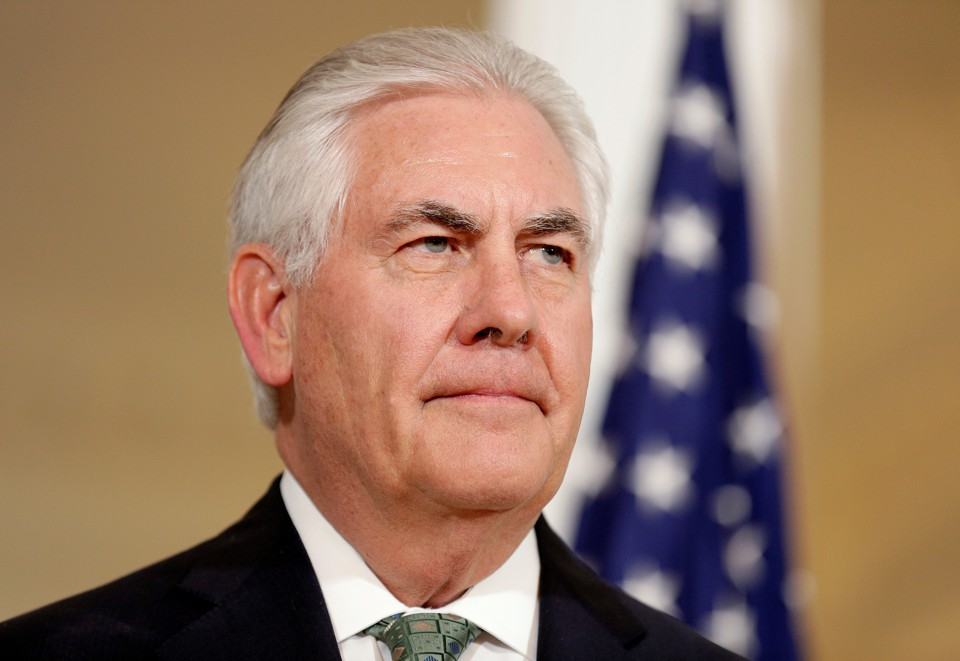 U.S. Secretary of State Rex Tillerson speaks about the chemical weapons attack in Syria.