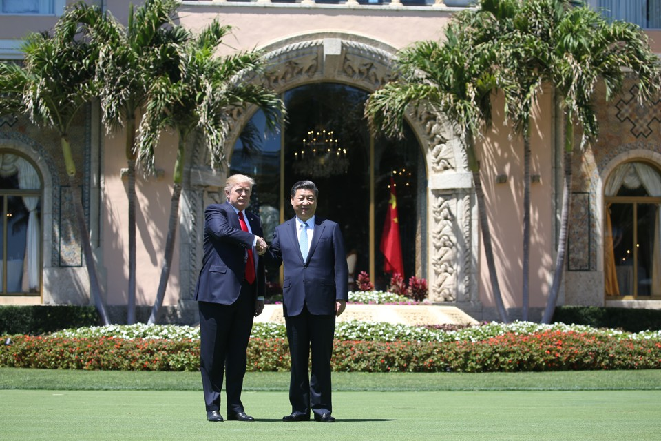 President Donald Trump at Mar-a-Lago with Chinese President Xi Jinping