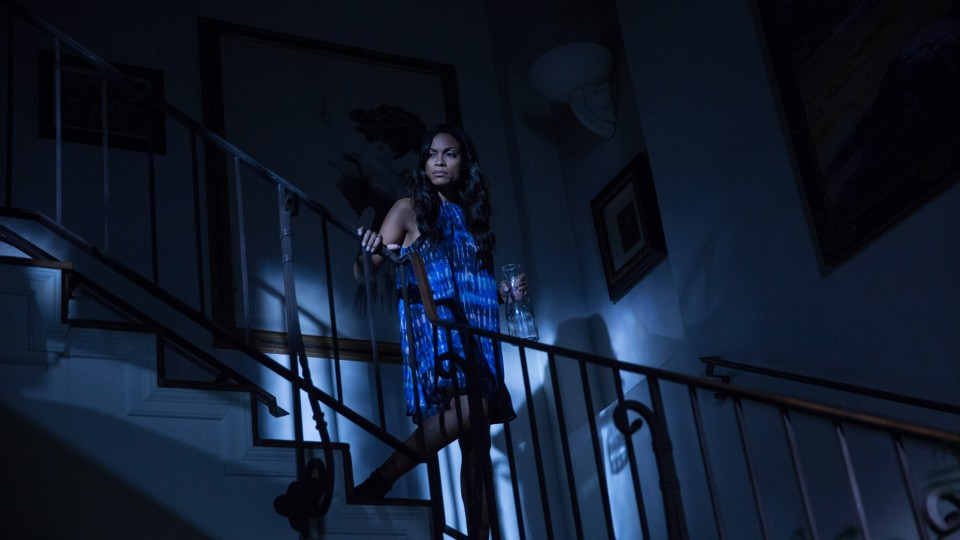 Rosario Dawson in a still from <em>Unforgettable</em>