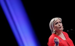 Marine Le Pen, National Front party leader and candidate for France's 2017 presidential election, attends a political rally in Chateauroux, France, March 11, 2017.
